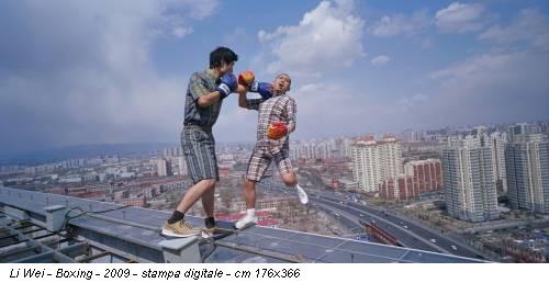 Li Wei - Boxing - 2009 - stampa digitale - cm 176x366