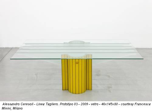 Alessandro Ceresoli - Linea Tagliero. Prototipo 03 - 2009 - vetro - 46x145x80 - courtesy Francesca Minini, Milano