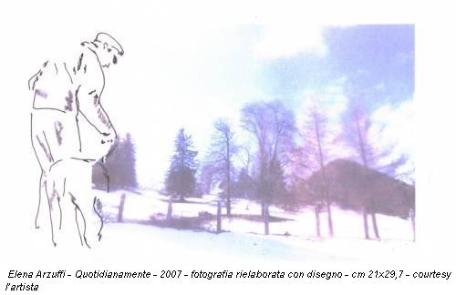 Elena Arzuffi - Quotidianamente - 2007 - fotografia rielaborata con disegno - cm 21x29,7 - courtesy l'artista