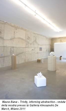 Maura Biava - Trinity, informing abstraction - veduta della mostra presso la Galleria Alessandro De March, Milano 2011