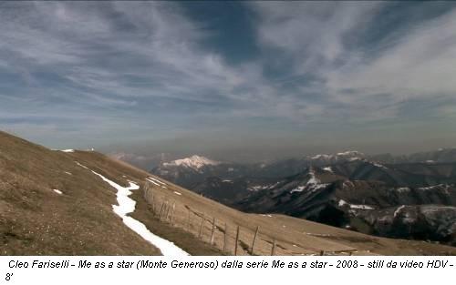 Cleo Fariselli - Me as a star (Monte Generoso) dalla serie Me as a star - 2008 - still da video HDV - 8'