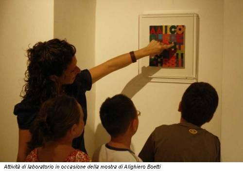Attività di laboratorio in occasione della mostra di Alighiero Boetti