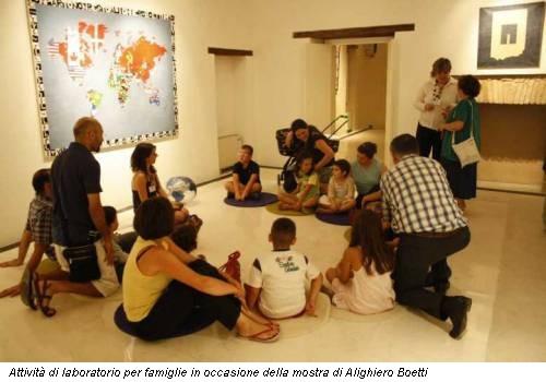 Attività di laboratorio per famiglie in occasione della mostra di Alighiero Boetti