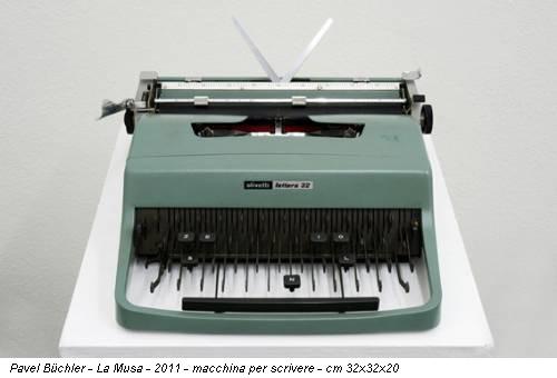 Pavel Büchler - La Musa - 2011 - macchina per scrivere - cm 32x32x20