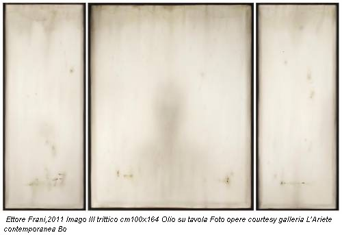 Ettore Frani,2011 Imago III trittico cm100x164 Olio su tavola Foto opere courtesy galleria L'Ariete contemporanea Bo