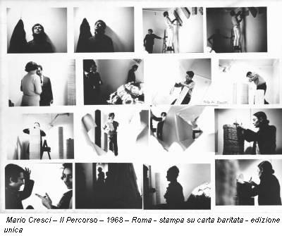 Mario Cresci – Il Percorso – 1968 – Roma - stampa su carta baritata - edizione unica