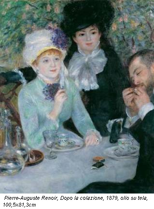 Pierre-Auguste Renoir, Dopo la colazione, 1879, olio su tela, 100,5x81,3cm