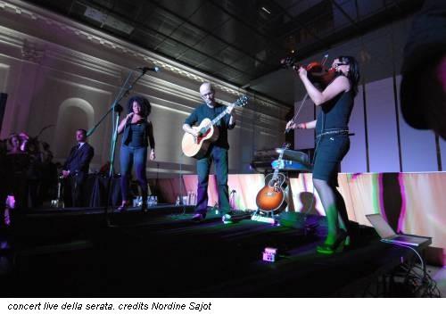 concert live della serata. credits Nordine Sajot