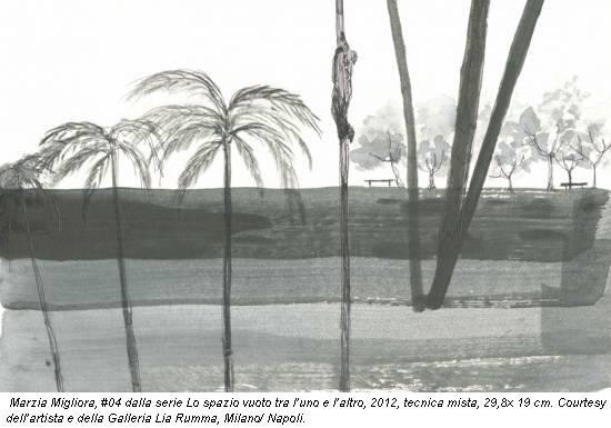 Marzia Migliora, #04 dalla serie Lo spazio vuoto tra l'uno e l'altro, 2012, tecnica mista, 29,8x 19 cm. Courtesy dell'artista e della Galleria Lia Rumma, Milano/ Napoli.