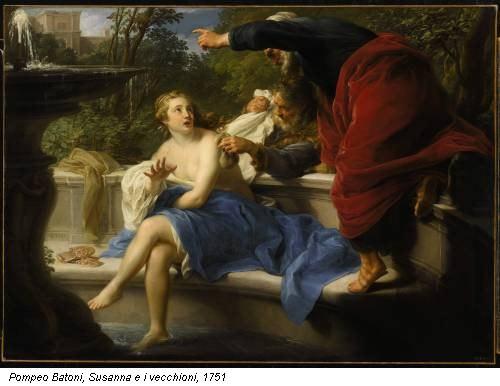 Pompeo Batoni, Susanna e i vecchioni, 1751