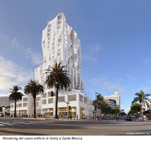 Rendering del nuovo edificio di Gehry a Santa Monica
