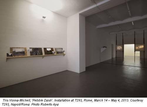 Tris Vonna-Michell, 'Pebble Dash'. Installation at T293, Rome, March 14 – May 4, 2013. Courtesy T293, Napoli/Roma. Photo Roberto Apa