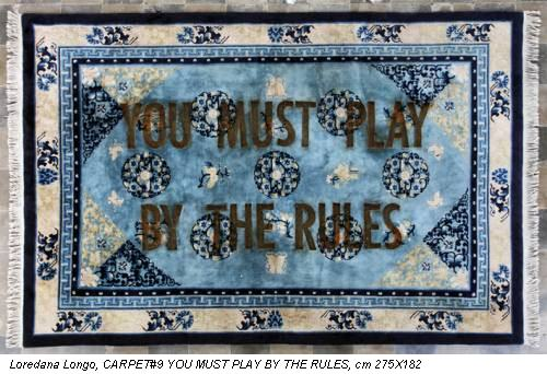 Loredana Longo, CARPET#9 YOU MUST PLAY BY THE RULES, cm 275X182