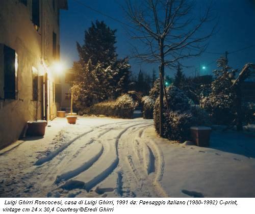 Luigi Ghirri Roncocesi, casa di Luigi Ghirri, 1991 da: Paesaggio italiano (1980-1992) C-print, vintage cm 24 x 30,4 Courtesy ©Eredi Ghirri