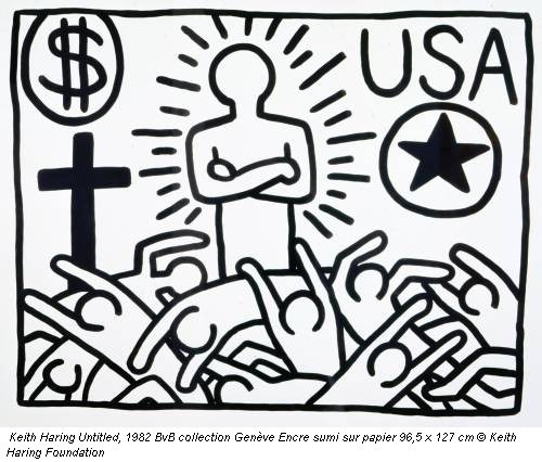 Keith Haring Untitled, 1982 BvB collection Genève Encre sumi sur papier 96,5 x 127 cm © Keith Haring Foundation