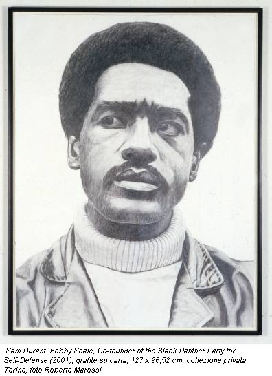 Sam Durant. Bobby Seale, Co-founder of the Black Panther Party for Self-Defense (2001), grafite su carta, 127 x 96,52 cm, collezione privata Torino, foto Roberto Marossi