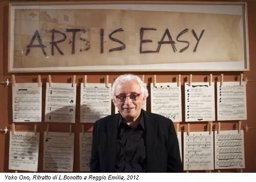 Yoko Ono, Ritratto di L.Bonotto a Reggio Emilia, 2012