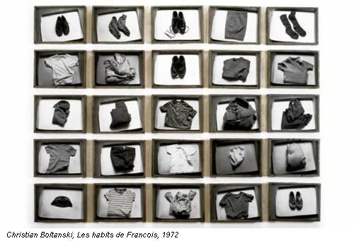 Christian Boltanski, Les habits de Francois, 1972