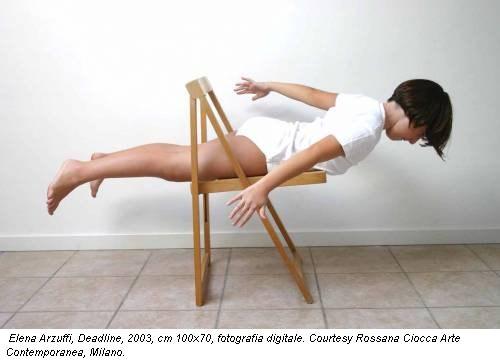 Elena Arzuffi, Deadline, 2003, cm 100x70, fotografia digitale. Courtesy Rossana Ciocca Arte Contemporanea, Milano.