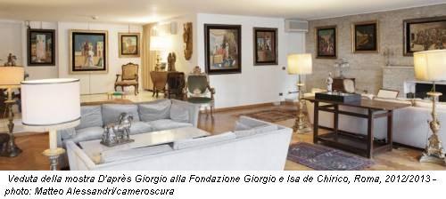 Veduta della mostra D'après Giorgio alla Fondazione Giorgio e Isa de Chirico, Roma, 2012/2013 - photo: Matteo Alessandri/cameroscura