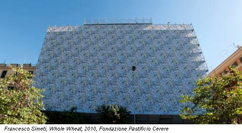 Francesco Simeti, Whole Wheat, 2010, Fondazione Pastificio Cerere