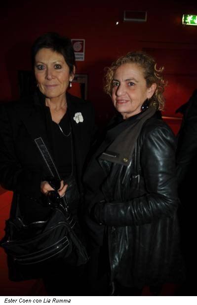 Ester Coen con Lia Rumma