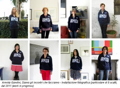 Armida Gandini, Siamo gli incontri che facciamo - Installazione fotografica (particolare di 8 scatti, dal 2011 (work in progress)