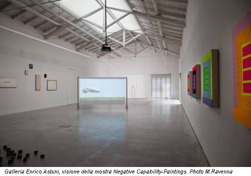 Galleria Enrico Astuni, visione della mostra Negative Capability-Paintings. Photo M.Ravenna