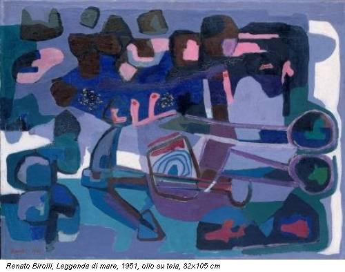 Renato Birolli, Leggenda di mare, 1951, olio su tela, 82x105 cm