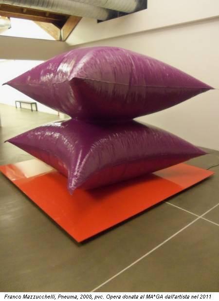 Franco Mazzucchelli, Pneuma, 2008, pvc. Opera donata al MA*GA dall'artista nel 2011
