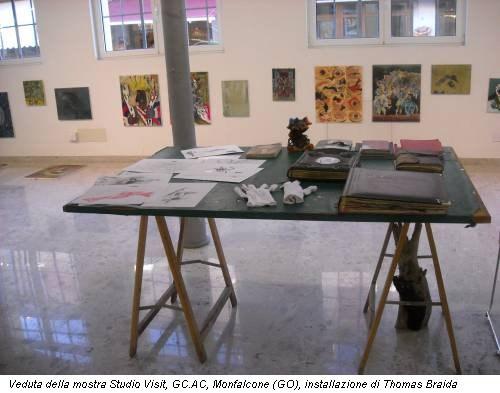 Veduta della mostra Studio Visit, GC.AC, Monfalcone (GO), installazione di Thomas Braida