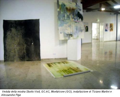 Veduta della mostra Studio Visit, GC.AC, Monfalcone (GO), installazione di Tiziano Martini e Alessandra Piga