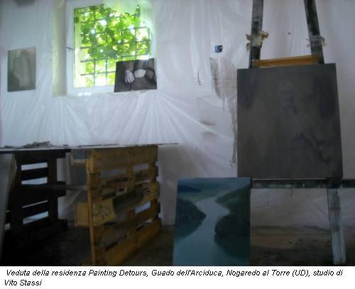 Veduta della residenza Painting Detours, Guado dell'Arciduca, Nogaredo al Torre (UD), studio di Vito Stassi