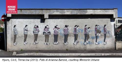 Hyuro, Cicli, Terracina (2013). Foto di Arianna Barone, courtesy Memorie Urbane