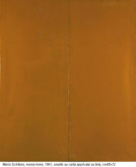 Mario Schifano, monocromo, 1961, smalto su carta applicata su tela, cm85x72