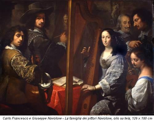 Carlo Francesco e Giuseppe Nuvolone - La famiglia dei pittori Nuvolone, olio su tela, 126 x 180 cm