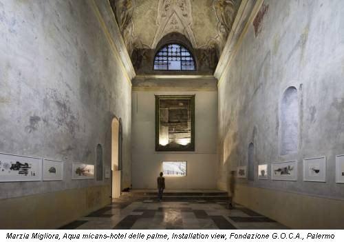 Marzia Migliora, Aqua micans-hotel delle palme, Installation view, Fondazione G.O.C.A., Palermo