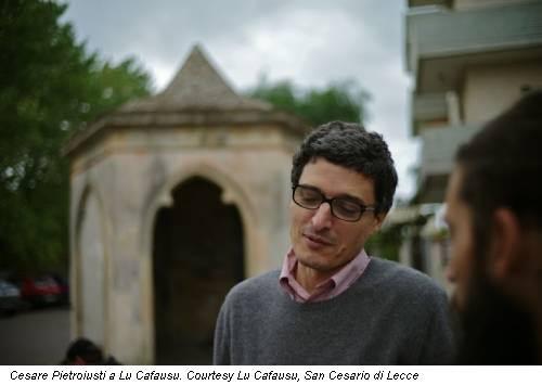 Cesare Pietroiusti a Lu Cafausu. Courtesy Lu Cafausu, San Cesario di Lecce
