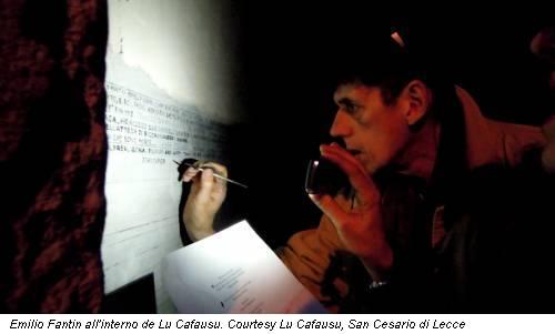 Emilio Fantin all'interno de Lu Cafausu. Courtesy Lu Cafausu, San Cesario di Lecce