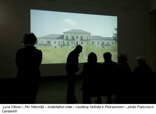 Luca Vitone – Per l'eternità – installation view – courtesy l'artista e Pinksummer – photo Francesco Cardarelli