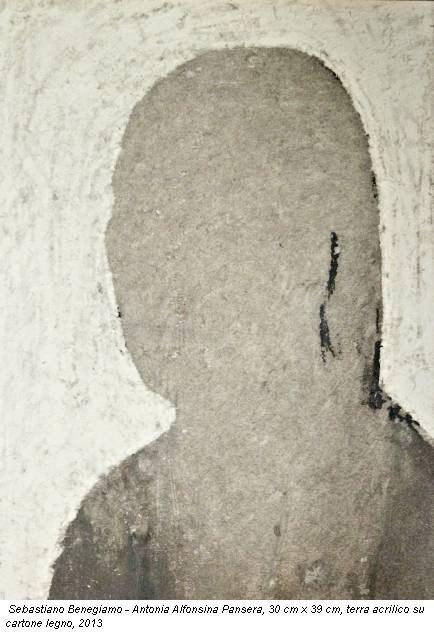 Sebastiano Benegiamo - Antonia Alfonsina Pansera, 30 cm x 39 cm, terra acrilico su cartone legno, 2013