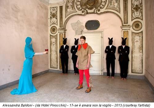 Alessandra Baldoni - (da Hotel Pinocchio) - 17-se è amara non la voglio - 2013 (courtesy l'artista)