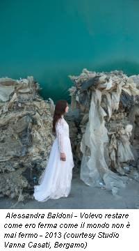Alessandra Baldoni - Volevo restare come ero ferma come il mondo non è mai fermo - 2013 (courtesy Studio Vanna Casati, Bergamo)