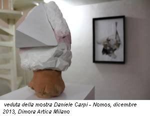 veduta della mostra Daniele Carpi - Nomos, dicembre 2013, Dimora Artica Milano