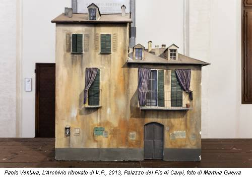 Paolo Ventura, L'Archivio ritrovato di V.P., 2013, Palazzo dei Pio di Carpi, foto di Martina Guerra