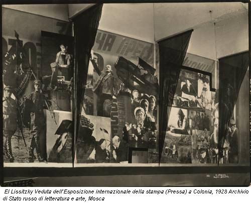 El Lissitzky Veduta dell'Esposizione internazionale della stampa (Pressa) a Colonia, 1928 Archivio di Stato russo di letteratura e arte, Mosca
