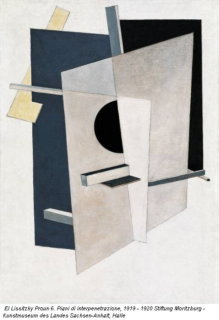El Lissitzky Proun 6. Piani di interpenetrazione, 1919 - 1920 Stiftung Moritzburg - Kunstmuseum des Landes Sachsen-Anhalt, Halle