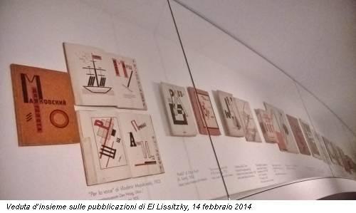 Veduta d'insieme sulle pubblicazioni di El Lissitzky, 14 febbraio 2014