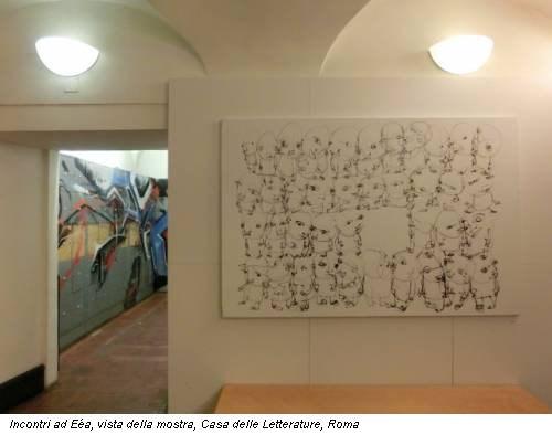 Incontri ad Eéa, vista della mostra, Casa delle Letterature, Roma