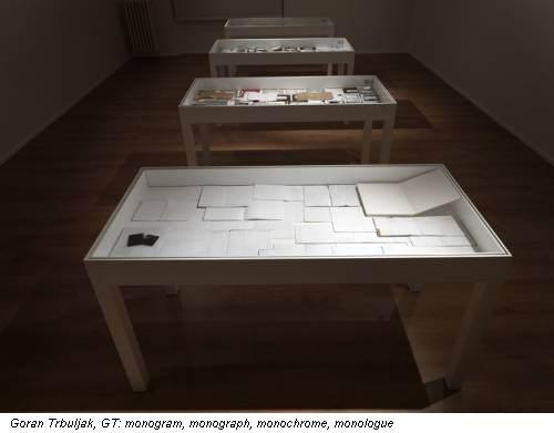 Goran Trbuljak, GT: monogram, monograph, monochrome, monologue